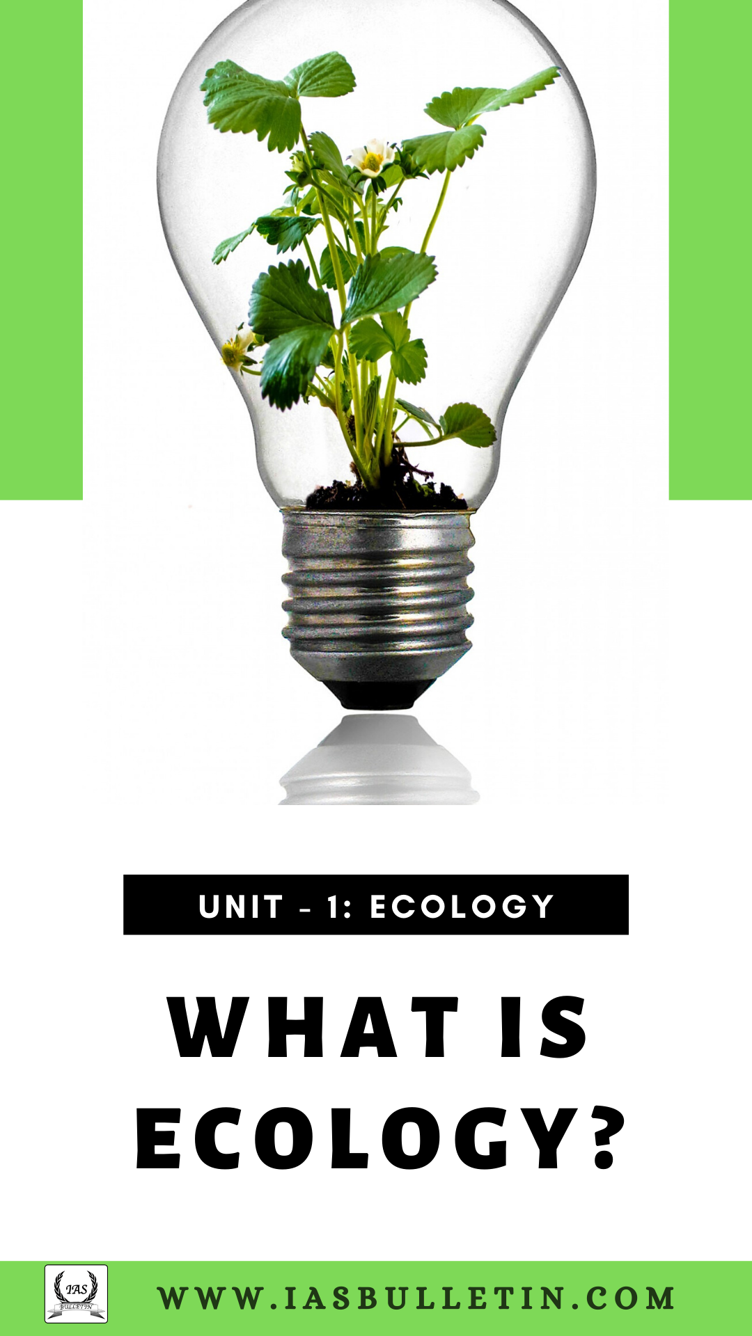 What is Ecology Cover